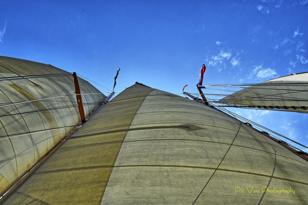 billowing sails
