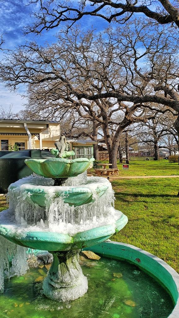 Iced-Over Fountain