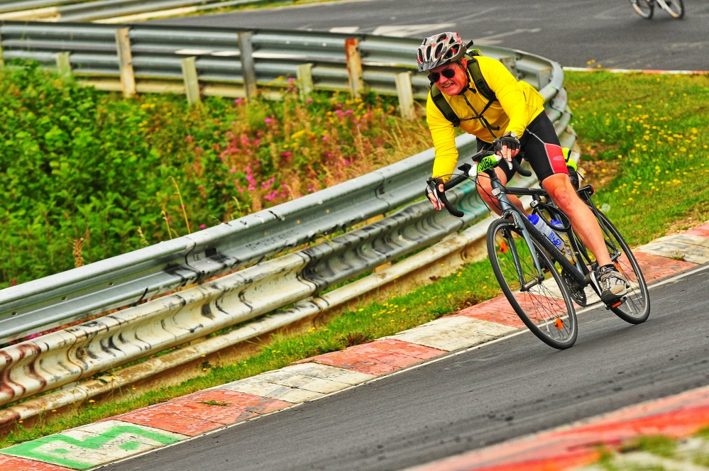 """myself at the """"Bruennchen"""" on the Nuerburgring Race Course"""