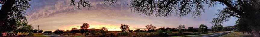 sunset over lower Crabapple Road