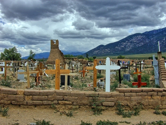 Taos Pueblo: Ruins of the Old Chuirch and Cemetary
