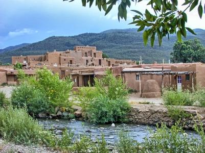 Taos Pueblo: Buildings from Across Red Willow Creek