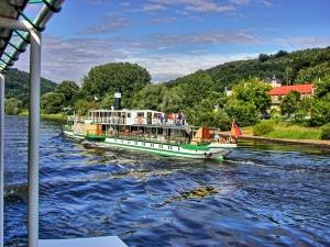 Vintage Elbe Steamer