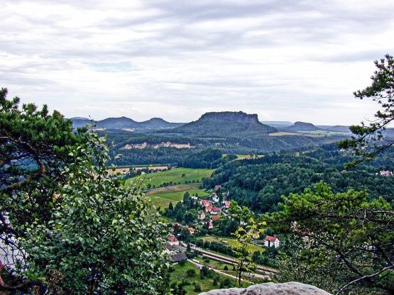 Views across the Elbe Valley